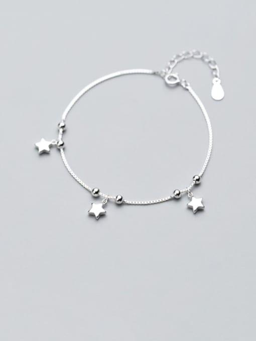 Rosh 925 Sterling Silver  Minimalist Star Link Bracelet 0