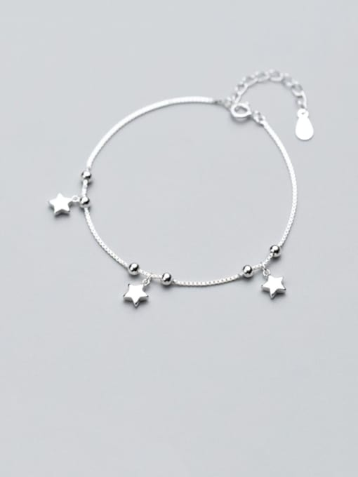 Rosh 925 Sterling Silver  Minimalist Star Link Bracelet