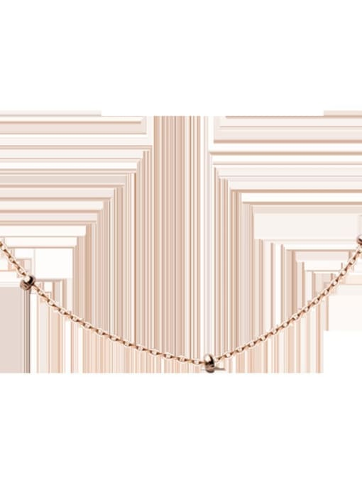 Rosh 925 Sterling Silver Simple o-shaped chain twist chain Necklace 3