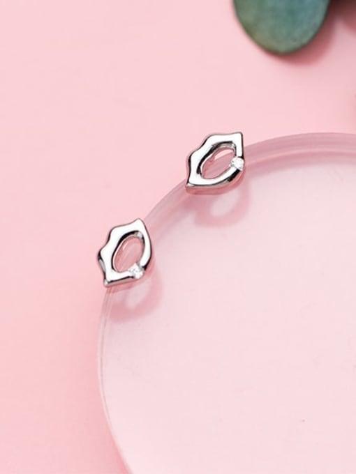 Rosh 925 Sterling Silver Mouth Minimalist Stud Earring 1