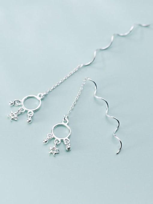 Rosh 925 Sterling Silver Star Vintage Threader Earring 3