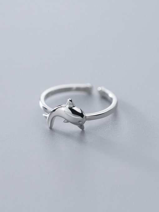 Rosh 925 Sterling Silver  Cute  Dolphin  Free Size Ring 2
