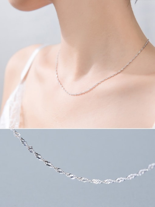 Rosh 925 Sterling Silver Simple snake bone chain 1
