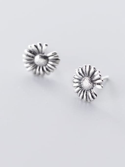 Rosh 925 Sterling Silver  Vintage Retro Simple Little Daisy Stud Earring 1