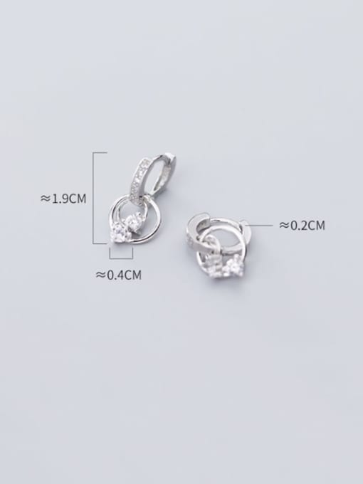 Rosh 925 Sterling Silver Cubic Zirconia Round Classic Huggie Earring 4