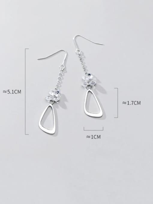 Rosh 925 Sterling Silver Triangle Minimalist Hook Earring 4