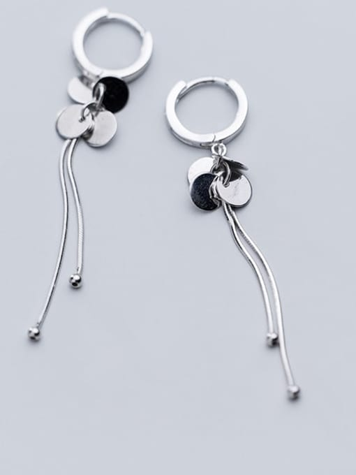Rosh 925 sterling silver tassel minimalist threader earring 2