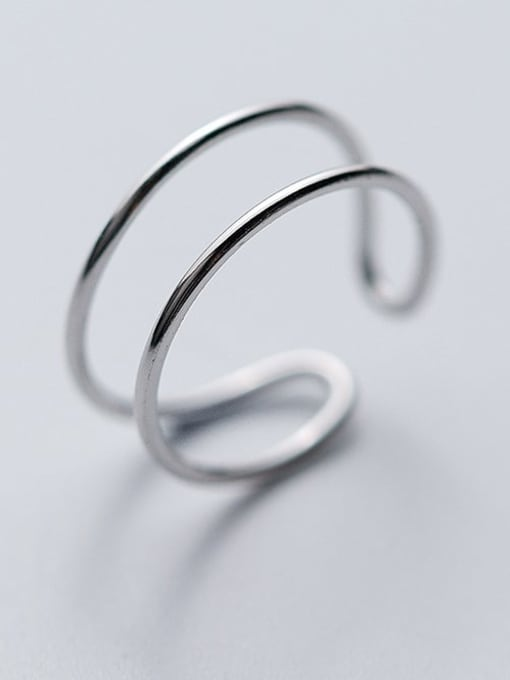Rosh 925 Sterling Silver Smooth Round Minimalist Stackable Ring 2