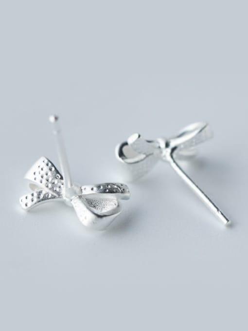Rosh 925 Sterling Silver Bowknot Minimalist Stud Earring 1