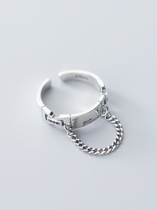 Rosh 925 Sterling Silver Round Vintage Free Size Band Ring