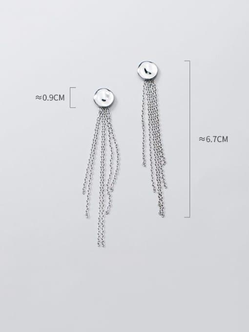 Rosh 925 Sterling Silver Tassel Vintage Stud Earring 3