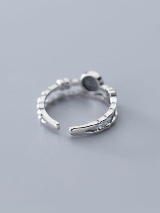 Rosh 925 Sterling Silver  Vintage  double smile Stackable Ring 3