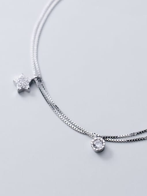 Rosh 925 sterling silver cubic zirconia star minimalist strand bracelet 2