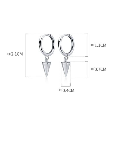 Rosh 925 Sterling Silver Smooth Geometric Minimalist Huggie Earring 4