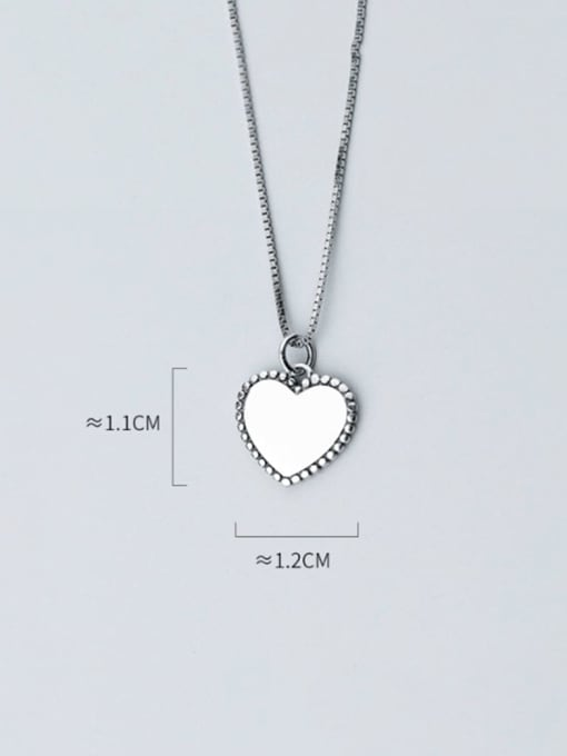 Rosh Heart 925 Sterling Silver Vintage Heart shaped Pendant 2
