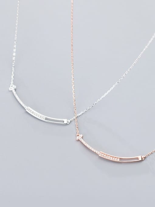 Rosh 925 Sterling Silver  Minimalist Geometric  Pendant  Necklace 1