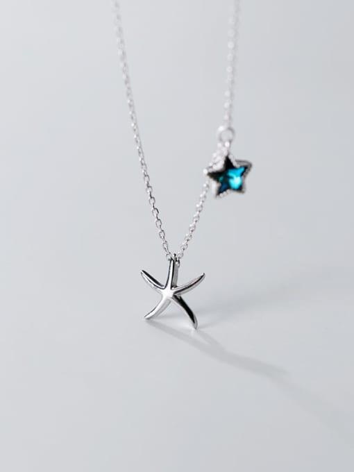 Rosh 925 Sterling Silver  Minimalist   Star  Pendant Necklace 3