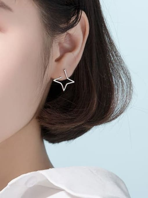 Rosh 925 Sterling Silver Star Minimalist Stud Earring 3