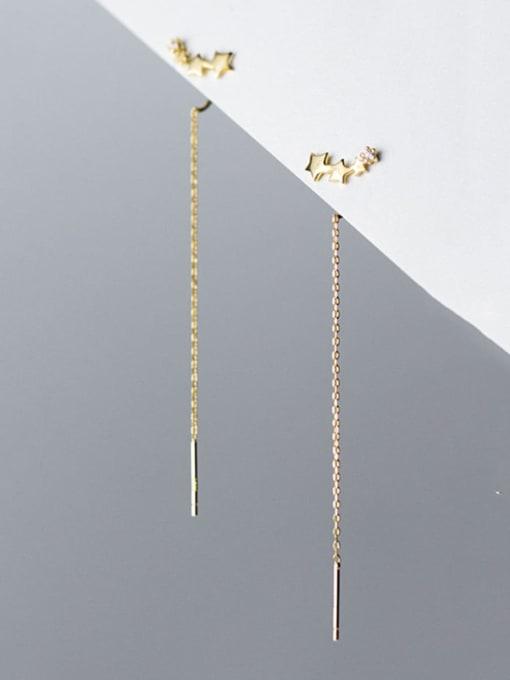 Rosh 925 Sterling Silver Tassel Trend Threader Earring 0