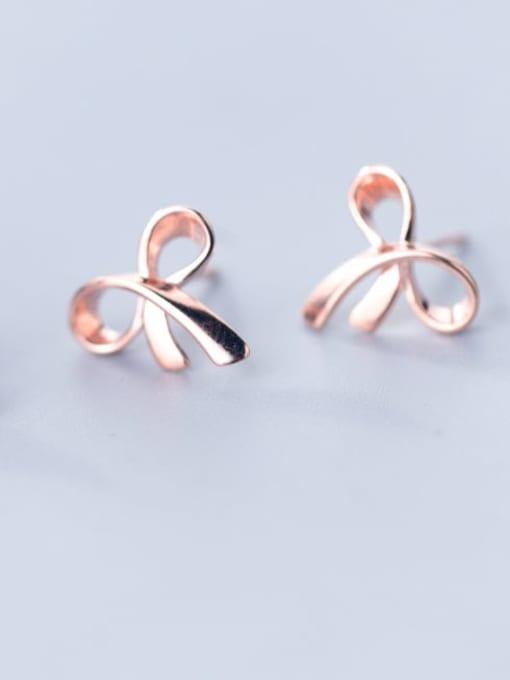 Rosh 925 Sterling Silver   Minimalist  Flowers Stud Earring 0