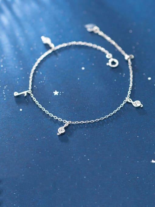 Rosh 925 Sterling Silver Round Minimalist Link Bracelet