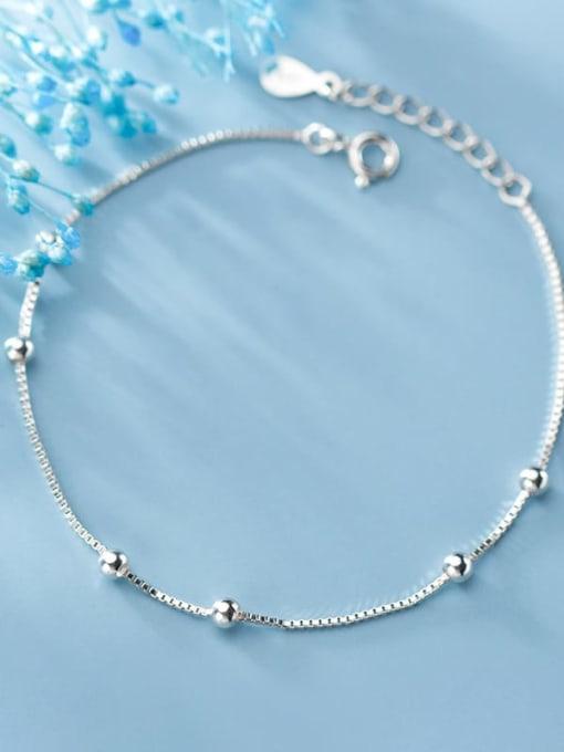 Rosh 925 Sterling Silver Bead Round Minimalist Beaded Bracelet 1