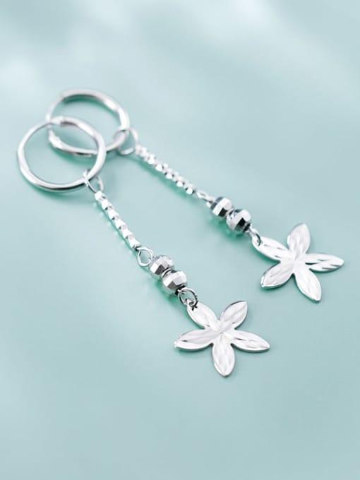 Rosh 925 Sterling Silver Smooth Bead Flower Vintage Huggie Earring 3