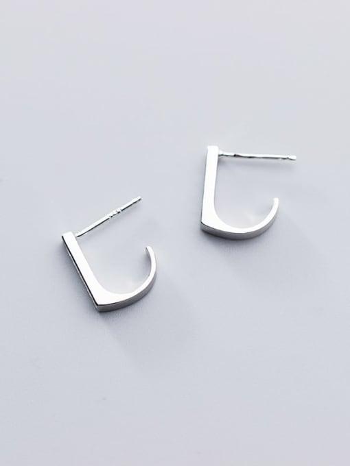 Rosh 925 Sterling Silver Rhinestone  Geometric Minimalist Stud Earring 3