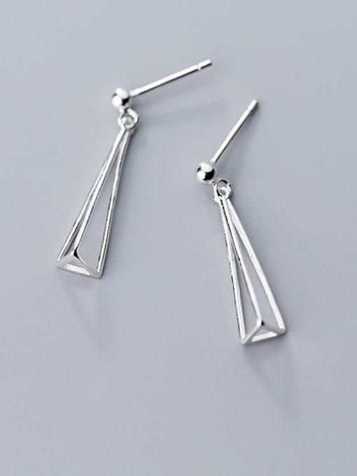 Rosh 925 Sterling Silver Hollow Geometric Minimalist Drop Earring 1