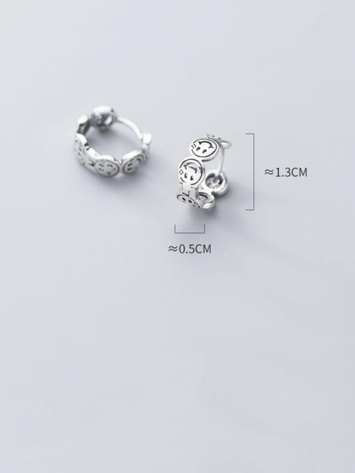 Rosh 925 Sterling Silver Face Vintage Stud Earring 2