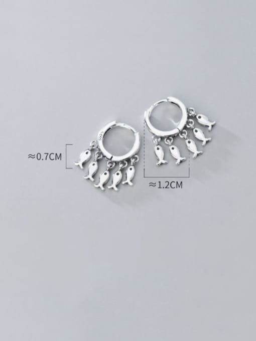 Rosh 925 Sterling Silver Many creative fish Classic Huggie Earring 3