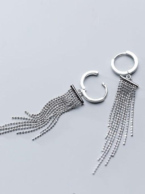 Rosh 925 Sterling Silver Bead Tassel Vintage Threader Earring 1