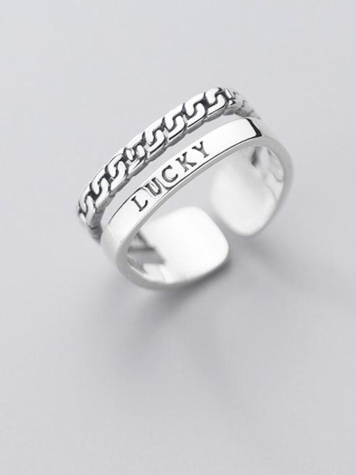 Rosh 925 Sterling Silver Irregular Vintage Stackable Ring 2