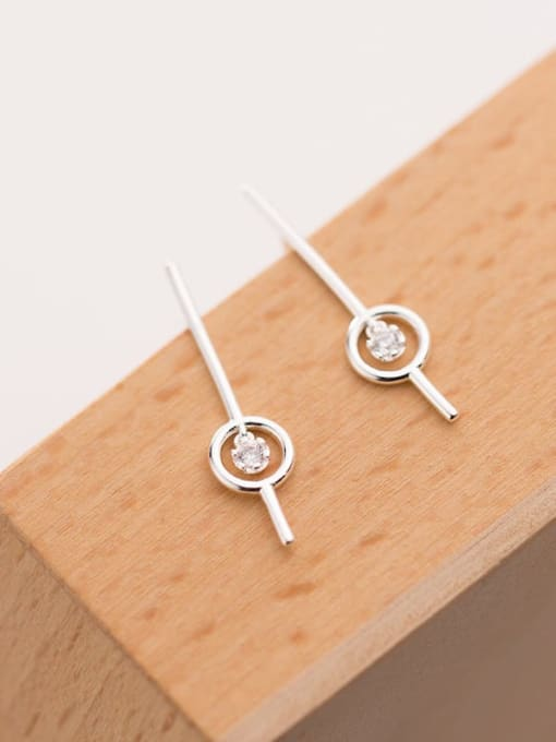 Rosh 925 Sterling Silver Round Minimalist Stud Earring 1