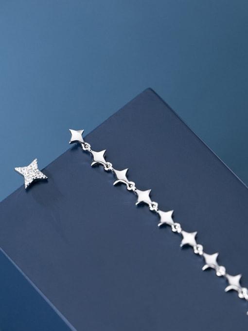 Rosh 925 Sterling Silver Asymmetry Star Minimalist Stud Earring 2