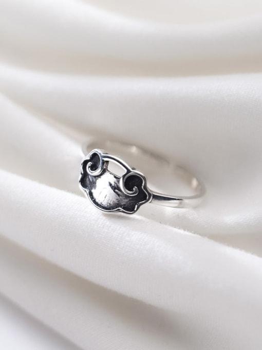 Rosh 925 sterling silver irregular vintage free size ring 2