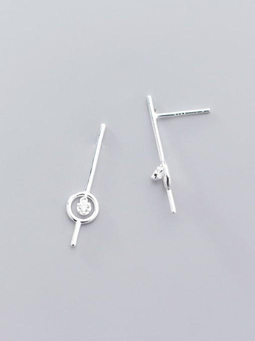 Rosh 925 Sterling Silver Round Minimalist Stud Earring 2