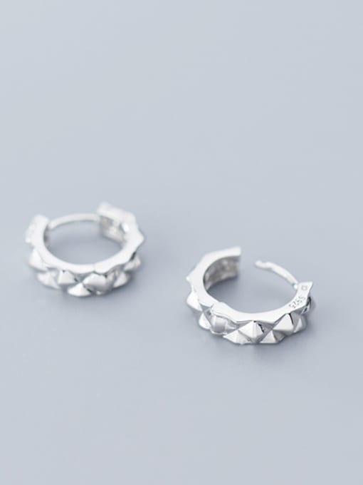 Rosh 925 Sterling Silver Round Minimalist Stud Earring 2