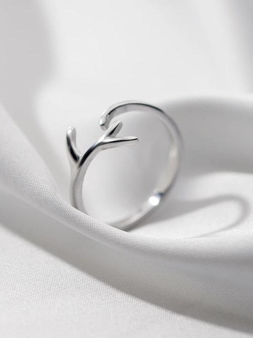 Rosh 925 Sterling Silver Smooth  Irregular Minimalist Free Size Ring 1