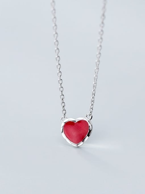 Rosh 925 sterling silver Simple fashion heart pendant necklace