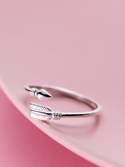Rosh 925 Sterling Silver Feather Minimalist Free Size Ring 2