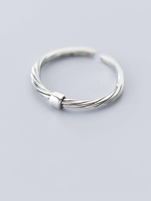 Rosh 925 Sterling Silver Irregular Minimalist Band Ring 2