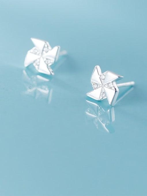 Rosh 925 Sterling Silver Flower Minimalist Stud Earring 3