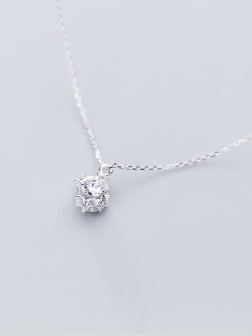 Rosh 925 Sterling Silver Rhinestone Full diamond small ball pendant Necklace 2