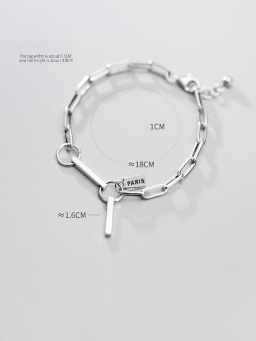 Rosh 925 Sterling Silver  Vintage Hollow Chain Link Bracelet 2