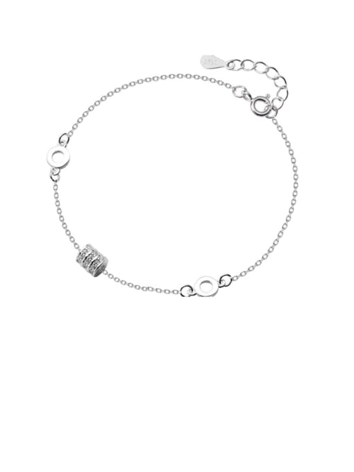 Rosh 925 Sterling Silver Geometric Minimalist   Anklet