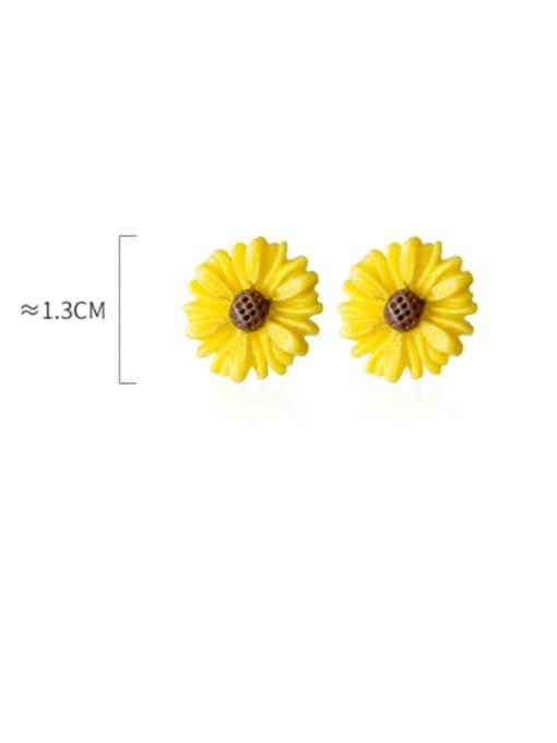 Rosh 925 Sterling Silver Flower Minimalist Stud Earring 4
