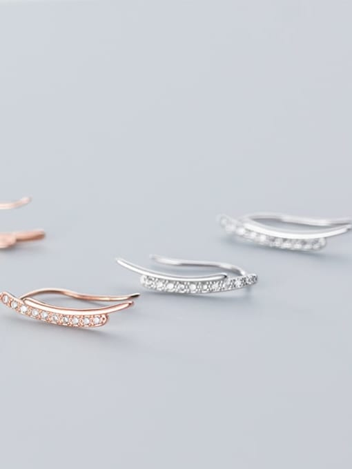 Rosh 925 Sterling Silver Minimalist fashion U-shaped  Hook Earring 1