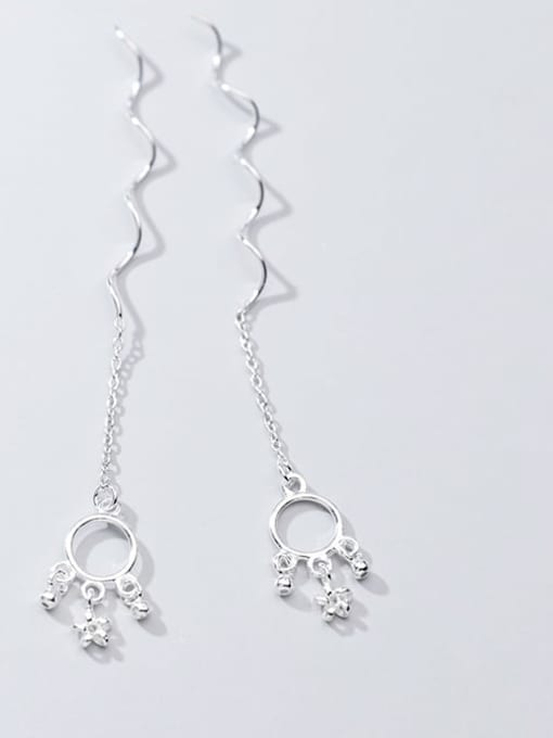 Rosh 925 Sterling Silver Star Vintage Threader Earring 1