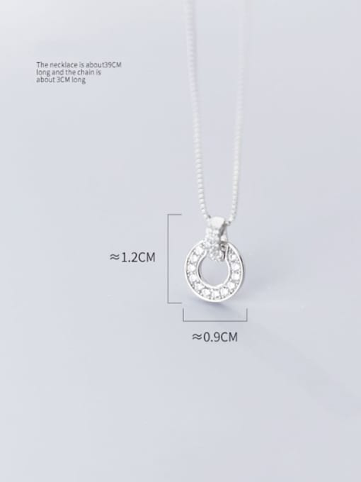 Rosh 925 Sterling Silver Cubic Zirconia Full Diamond Round Pendant  Necklace 1